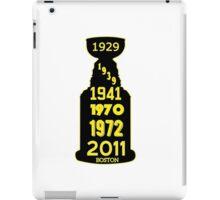 Boston Bruins Stanley Cup Winning Years iPad Case/Skin