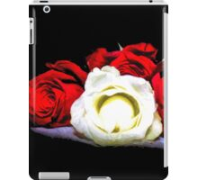Painted Red and White Roses iPad Case/Skin