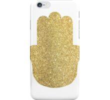 gold hamsa iPhone Case/Skin