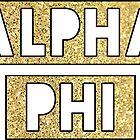 alpha phi gold box by devonsdesigns