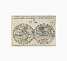 Vintage Map of The World (1706) Unisex T-Shirt