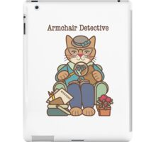 Armchair Detective, Cat, Woman iPad Case/Skin