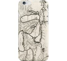Vintage Map of The Great Lakes (1744) iPhone Case/Skin