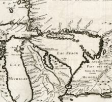 Vintage Map of The Great Lakes (1744) Sticker