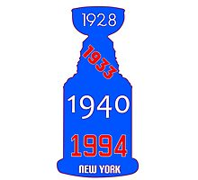 New York Rangers Stanley Cup Years Photographic Print