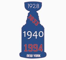 New York Rangers Stanley Cup Years Baby Tee