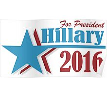 2016 election vote for Hillary Clinton Poster