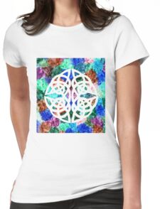 Celtic knot Papercut Womens Fitted T-Shirt