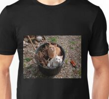 Two Cats in Garden Tub Unisex T-Shirt