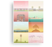 The Films of Wes Anderson Metal Print