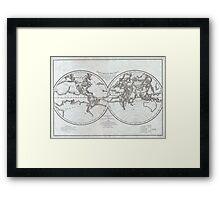 Vintage Map of The World (1799) 4 Framed Print