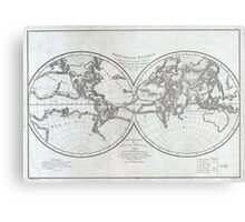 Vintage Map of The World (1799) 4 Metal Print