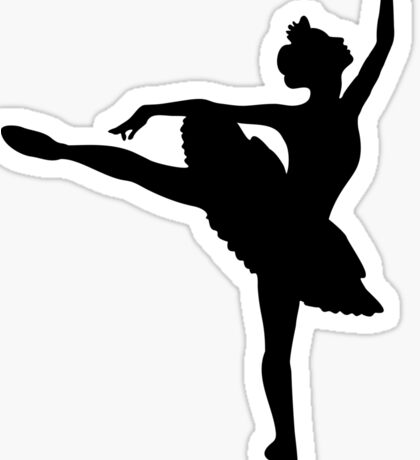 Ballerina (black) Sticker