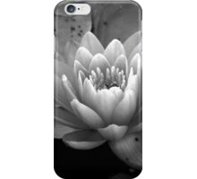 Black and White Waterlily iPhone Case/Skin