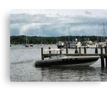Stormy Day At The Harbor Essex CT Canvas Print