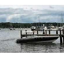 Stormy Day At The Harbor Essex CT Photographic Print