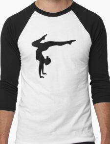 B&W Contortionist Men's Baseball ¾ T-Shirt