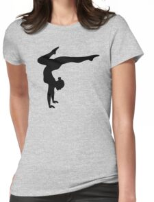 B&W Contortionist Womens Fitted T-Shirt