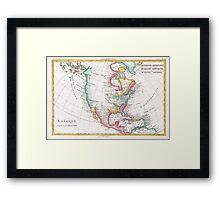 Vintage Map of North America (1780) Framed Print