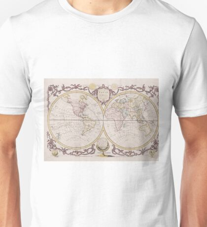 Vintage Map of The World (1782) Unisex T-Shirt