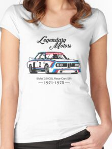 BMW 3.0 CSL Race Car Women's Fitted Scoop T-Shirt