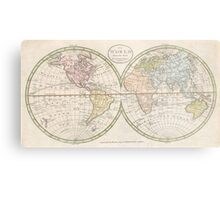Vintage Map of The World (1798) Metal Print