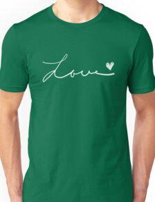 Love handwritten.  Unisex T-Shirt