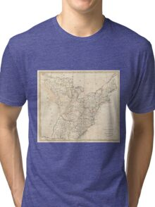 Vintage Map of Early America (1799) Tri-blend T-Shirt