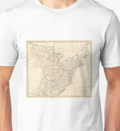 Vintage Map of Early America (1799) Unisex T-Shirt
