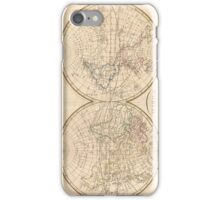 Vintage Map of The World (1799) 3 iPhone Case/Skin