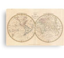 Vintage Map of The World (1799) 3 Metal Print