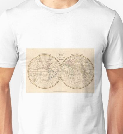 Vintage Map of The World (1799) 3 Unisex T-Shirt
