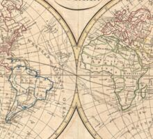 Vintage Map of The World (1799) 3 Sticker