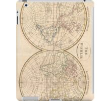 Vintage Map of The World (1799) 3 iPad Case/Skin