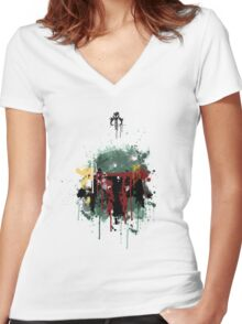 Bounty Hunter Women's Fitted V-Neck T-Shirt