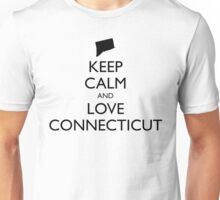 KEEP CALM and LOVE CONNECTICUT Unisex T-Shirt