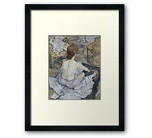 Henri de Toulouse-Lautrec  - Rousse (1889) Woman Portrait Fashion Framed Print