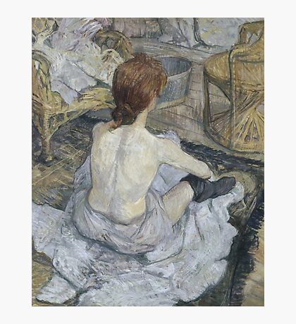 Henri de Toulouse-Lautrec  - Rousse (1889) Woman Portrait Fashion Photographic Print