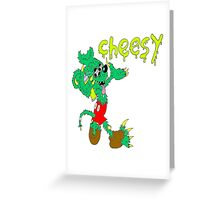 icky mouse rat fink cheesy graffiti Greeting Card