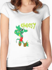 icky mouse rat fink cheesy graffiti Women's Fitted Scoop T-Shirt