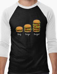 Burger explained 2: Burg. Burger. Burgest Men's Baseball ¾ T-Shirt