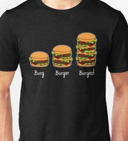 Burger explained 2: Burg. Burger. Burgest Unisex T-Shirt