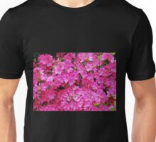 Pink Azalea Flowers Unisex T-Shirt