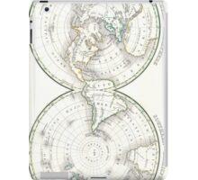 Vintage Northern and Southern World Hemisphere Map  iPad Case/Skin