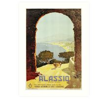 Vintage 1920s Alassio Italian travel advertising Art Print