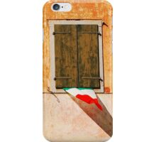 Italian Flags on Rural Building iPhone Case/Skin