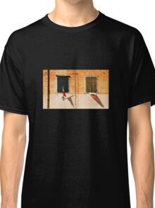 Italian Flags on Rural Building Classic T-Shirt