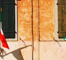 Italian Flags on Rural Building Sticker