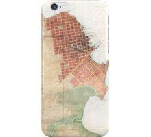 Vintage Map of San Francisco CA (1853) iPhone Case/Skin