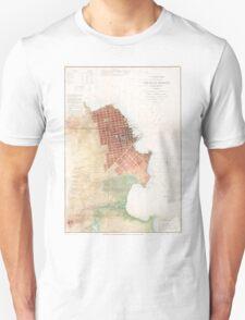 Vintage Map of San Francisco CA (1853) Unisex T-Shirt